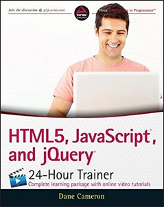 HTML5, JavaScript, and jQuery 24-Hour Trainer (Paperback)-cover