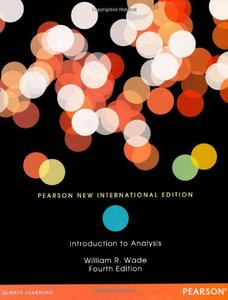 An Introduction to Analysis, 4/e (NIE-Paperback)-cover