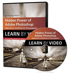 Hidden Power of Adobe Photoshop: Adjustments and Blends for Photographers: Learn by Video DVD-ROM-cover