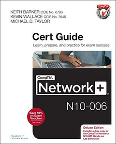 CompTIA Network+ N10-006 Cert Guide, Deluxe Edition Hardcover-cover
