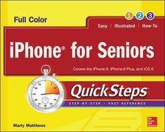 iPhone for Seniors QuickSteps Paperback-cover