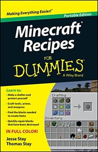 Minecraft Recipes For Dummies Paperback-cover