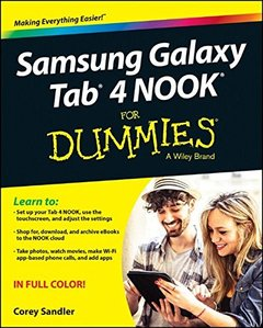 Samsung Galaxy Tab 4 NOOK For Dummies Paperback-cover