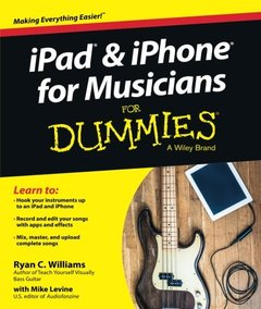 iPad and iPhone For Musicians For Dummies Paperback-cover