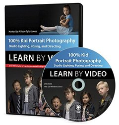 100% Kid Portrait Photography: Learn by Video: Studio Lighting, Posing, and Directing Multimedia DVD-cover