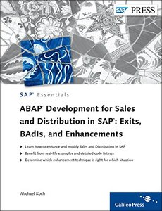 ABAP Development for Sales and Distribution in SAP: Exits, BAdIs, and Enhancements (Hardcover)-cover
