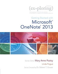 Exploring Getting Started with Microsoft OneNote for Office 2013 (Exploring for Office 2013) Paperback-cover