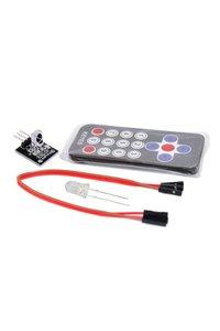 紅外線遙控器學習套件(遙控器+接受器模組+發射元件+杜邦線)-cover