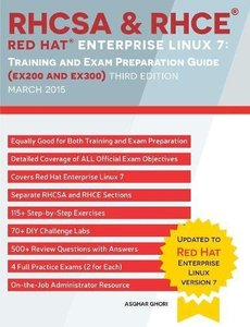 RHCSA & RHCE Red Hat Enterprise Linux 7: Training and Exam Preparation Guide (EX200 and EX300), 3/e (Paperback)-cover