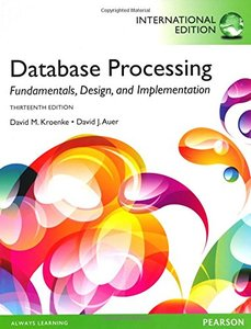 Database Processing : Fundamentals, Design, and Implementation, 13/e (IE-Paperback)-cover