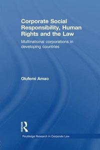 Corporate Social Responsibility, Human Rights and the Law: Multinational Corporations in Developing Countries (Paperback)-cover