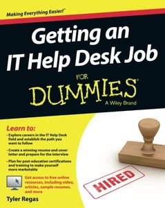 Getting an IT Help Desk Job For Dummies Paperback-cover