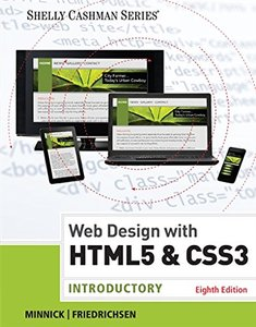 HTML5 and CSS3: Introductory Paperback-cover