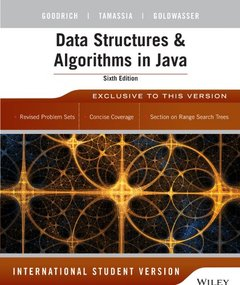 Data Structures and Algorithms in Java, 6/e (IE-Paperback)-cover