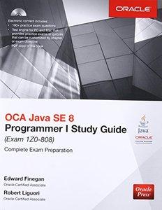 OCA Java SE 8 Programmer I Study Guide (Exam 1Z0-808), 3/e (Paperback)-cover