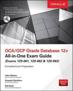 OCA/OCP Oracle Database 12c All-in-One Exam Guide (Exams 1Z0-061, 1Z0-062, & 1Z0-063), 2/e (Hardcover)-cover