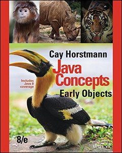 Java Concepts: Early Objects, 8/e(Paperback)-cover