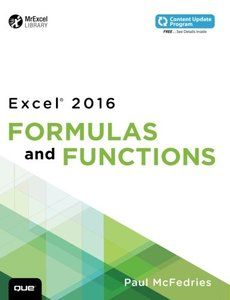 Excel 2016 Formulas and Functions (Paperback)-cover