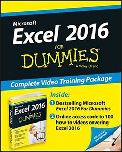 Excel 2016 For Dummies Book + Online Videos Bundle (Paperback)-cover