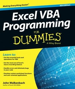 Excel VBA Programming For Dummies, 4/e (Paperback)-cover