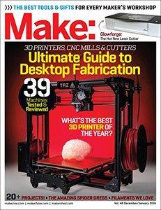 Make: Volume 48 Desktop Fabrication: Fab Factory (Paperback)-cover