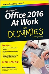 Office 2016 at Work For Dummies(Paperback)-cover