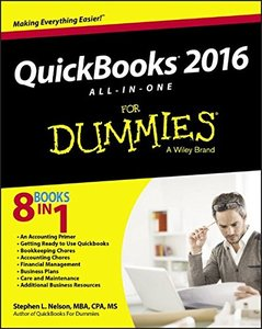 QuickBooks 2016 All-in-One For Dummies-cover