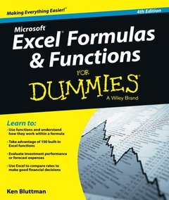Excel Formulas and Functions For Dummies 4/e (Paperback)-cover