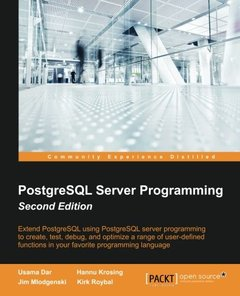 PostgreSQL Server Programming,  2/e(Paperback)-cover