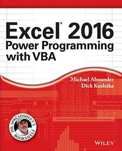 Excel 2016 Power Programming with VBA (Paperback)-cover