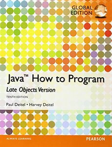 Java How To Program - Late Objects Version, 10/e (IE-Paperback)-cover