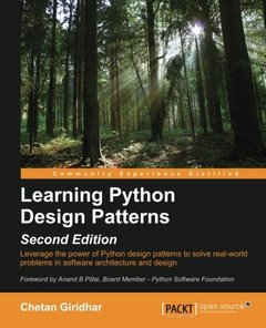 Learning Python Design Patterns, 2/e (Paperback)-cover