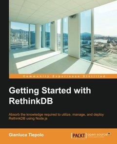 Getting Started with RethinkDB(Paperback)-cover