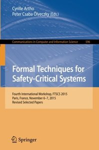 Formal Techniques for Safety-Critical Systems(Paperback)-cover