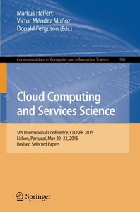 Cloud Computing and Services Science(Paperback)-cover