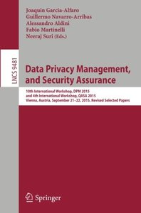 Data Privacy Management, and Security Assurance(Paperback)-cover
