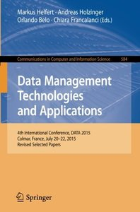 Data Management Technologies and Applications(Paperback)-cover