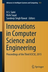 Innovations in Computer Science and Engineering(Paperback)-cover