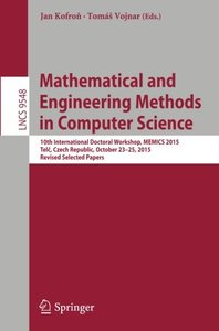 Mathematical and Engineering Methods in Computer Science(Paperback)-cover