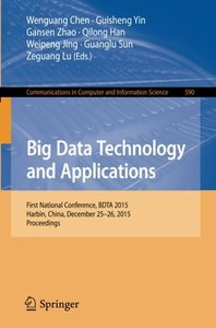Big Data Technology and Applications(Paperback)-cover
