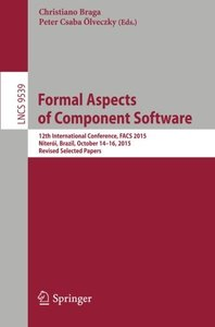 Formal Aspects of Component Software(Paperback)-cover