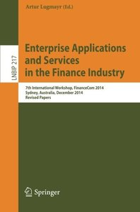 Enterprise Applications and Services in the Finance Industry(Paperback)-cover