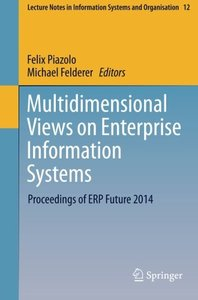 Multidimensional Views on Enterprise Information Systems: Proceedings of ERP Future 2014(Paperback)-cover