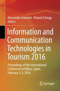 Information and Communication Technologies in Tourism 2016(Paperback)-cover