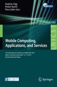 Mobile Computing, Applications, and Services(Paperback)-cover