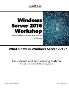 Windows Server 2016 Workshop: Whats New in Windows Server 2016-cover
