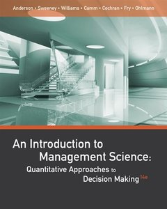 An Introduction to Management Science: Quantitative Approaches to Decision Making, 14/e (Hardcover)-cover