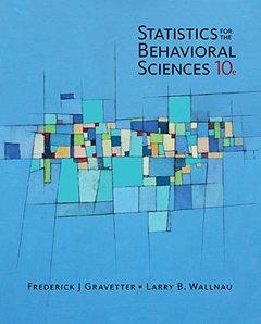 Statistics for The Behavioral Sciences, 10/e (Paperback)-cover