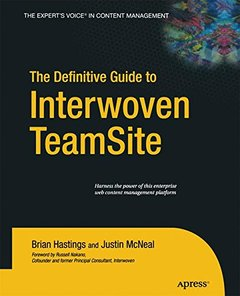 The Definitive Guide to Interwoven TeamSite-cover