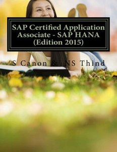 SAP Certified Application Associate - SAP HANA (Edition 2015)-cover
